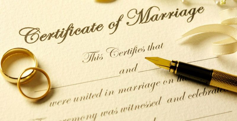 Formula B Marriage Certificate